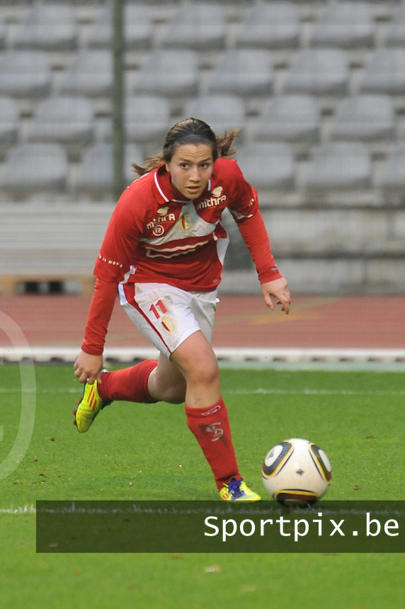 RSC Anderlecht Dames - Standard Femina de Liege : Vanity Lewerissa.foto JOKE VUYLSTEKE / Vrouwenteam.be