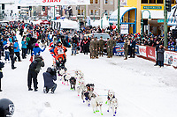 Rob Cooke during the ceremonial start of the 2018 Iditarod in Anchorage, Alaska on Saturday, March 3,  2018.<br /> <br /> Photo by Jeff Schultz/SchultzPhoto.com  (C) 2018  ALL RIGHTS RESERVED