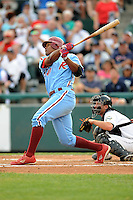 July 15, 2009:  Michael Taylor of the Reading Phillies during the 2009 Eastern League All-Star game at Mercer County Waterfront Park in Trenton, NJ.  Photo By David Schofield/Four Seam Images