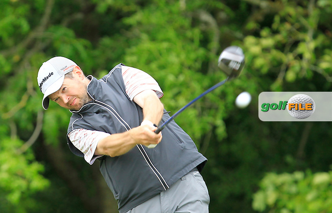 Barry Wilde (Balbriggan) on the 14th tee during Round 2 of the Irish Mid-Amateur Open Championship at New Forest on Saturday 20th June 2015.<br /> Picture:  Thos Caffrey / www.golffile.ie