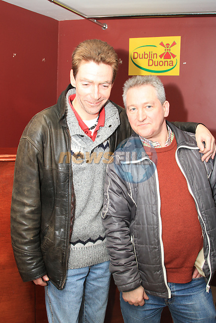 Austin Lynch and Eugene Kavanagh at the Peter Lyons' Bakery Reunion in McHughs..Picture: Shane Maguire / www.newsfile.ie.
