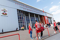 General view of St Mary's Stadium in Southampton