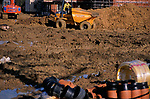 A913MB New private housing estate being constructed Rendlesham Suffolk England