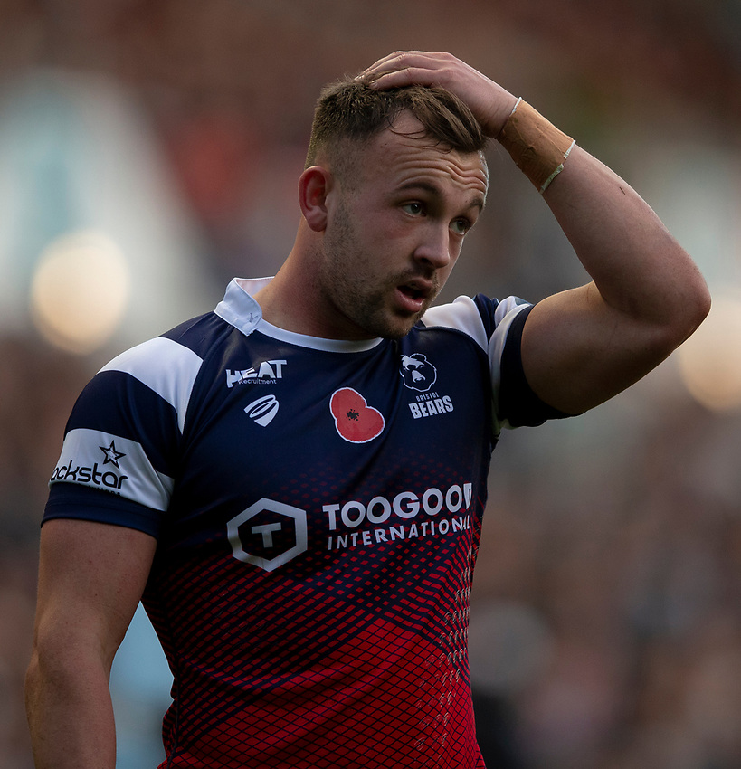 Bristol Bears' Andy Uren<br /> <br /> Photographer Bob Bradford/CameraSport<br /> <br /> Gallagher Premiership Round 7 - Bristol Bears v Exeter Chiefs - Sunday 18th November 2018 - Ashton Gate - Bristol<br /> <br /> World Copyright © 2018 CameraSport. All rights reserved. 43 Linden Ave. Countesthorpe. Leicester. England. LE8 5PG - Tel: +44 (0) 116 277 4147 - admin@camerasport.com - www.camerasport.com