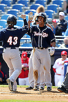 New Hampshire Fisher Cats outfielder Anthony Gose #24 during a game against the Reading Phillies at FirstEnergy Stadium on May 5, 2011 in Reading, Pennsylvania.  New Hampshire defeated Reading by the score of 10-5.  Photo By Mike Janes/Four Seam Images