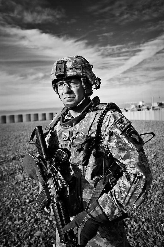1st Sgt. Ryan Alfaro, Baker Company, 1st Battalion, 506th Infantry, at the Sharana Forward Operations Base, Afghanistan, Wednesday, January 28, 2009.