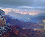 USA, Arizona, Grand Canyon National Park.   Winter Snow.