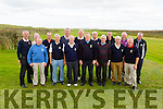 The Killarney team who won the Dr Billy O'Sullivan in Castlegregory on Sunday after defeating Kenmare pictured here front l-r; Tim O'Keeffe, Tony Walsh, Tadgh Reilly(Team Manager), Larry O'Donnell, John Moynihan, Tim Kelleher, Mick Leahy, back l-r; Michael Quirke(Captain Killarney GC)Derry O'Connor, Seamus Doheny, Mick Lucey, John Wall, Ned Brosnan, Pat Fogarty, John Curtin & Junior Finnigan(Team Manager).