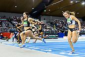 2nd February 2019, Karlsruhe, Germany;  60m sprint women's final: winner Ewa Swoboda (POL). IAAF Indoor athletics meeting, Karlsruhe