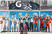 IMSA WeatherTech SportsCar Championship<br /> Sahlen's Six Hours of the Glen<br /> Watkins Glen International, Watkins Glen, NY USA<br /> Sunday 2 July 2017<br /> 93, Acura, Acura NSX, GTD, Andy Lally, Katherine Legge 25, BMW, BMW M6, GTLM, Bill Auberlen, Alexander Sims 5, Cadillac DPi, P, Joao Barbosa, Christian Fittipaldi, Filipe Albuquerque 38, ORECA, ORECA FLM09, PC, Kyle Masson, James French, Patricio O'Ward podium<br /> World Copyright: Michael L. Levitt/LAT Images