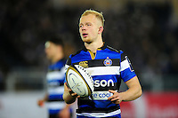 Will Homer of Bath Rugby looks on during a break in play. Anglo-Welsh Cup match, between Bath Rugby and Leicester Tigers on November 4, 2016 at the Recreation Ground in Bath, England. Photo by: Patrick Khachfe / Onside Images