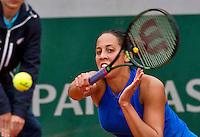 Paris, France, 01 June, 2016, Tennis, Roland Garros, Madison Keys (USA) in her match against Kiki Bertens (NED)<br /> Photo: Henk Koster/tennisimages.com