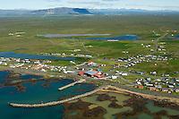 Stokkseyri til norðurs, Árborg / Stokkseyri viewing north, Arborg.