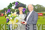 Lora Beth Malloy from Oklahoma, Queen of Fashion, Gerard Coughlan, Dawn Dariesat Killarney races ladies day on Thursday.