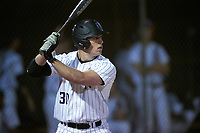 Northwestern Wildcats left fielder Joe Hoscheit (30) at bat during a game against the Saint Leo Lions on March 4, 2016 at North Charlotte Regional Park in Port Charlotte, Florida.  Saint Leo defeated Northwestern 5-3.  (Mike Janes/Four Seam Images)