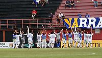 GUARULHOS, SP, 08 JANEIRO 2011 - COPA SAO PAULO DE FUTEBOL JUNIOR 2012 - <br /> Jogadores do Nacional -AM comemoram vitoria apos  partida entre as equipes do Flamengo-SP x Nacional -AM realizada no Est&aacute;dio Municipal Ant&ocirc;nio Soares de Oliveira Guarulhos (SP), v&aacute;lida pela 2&ordf; Rodada do Grupo X da Copa S&atilde;o Paulo de Futebol Junior 2012, neste domingo (08). (FOTO: ALE VIANNA - NEWS FREE).