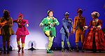 Jordan Gelber& Company during the First Performance Curtain Call of the Broadway Holiday Hit Musical 'Elf'  at the Al Hirschfeld  Theatre in New York City on 11/09/2012