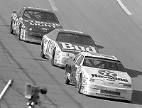 Davey Allison 28 Terry Labonte 11 Mark Martin 6 Winston 500 at Talladega Superspeedway in Talladega , AL in May 1989.  (Photo by Brian Cleary/www.bcpix.com)