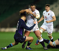 Kai Owen of England U20 takes on the Scotland defence. U20 Six Nations match, between England U20 and Scotland U20 on March 15, 2019 at Franklin's Gardens in Northampton, England. Photo by: Patrick Khachfe / JMP