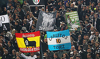 Juventus' supporters  during the Italian Serie A soccer match between   SS Lazio and FC Juventus   at Olimpico  stadium in Rome , November 22, 2014