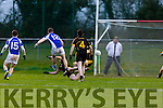Danny Cahalane Templenoe blast the ball into the back of the Coolmeen goal during the Munster Junior Championship final in Mallow on Sunday