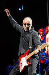 Pete Townshend of The Who performs at the Toyota Center Saturday Nov. 18,2006 in Houston,Texas.