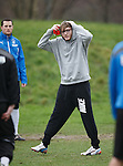 Exhausing work out for singer James Arthur at Rangers training