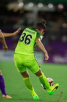 Orlando, FL - Thursday September 07, 2017: Nahomi Kawasumi during a regular season National Women's Soccer League (NWSL) match between the Orlando Pride and the Seattle Reign FC at Orlando City Stadium.