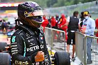 11th July 2020; Styria, Austria; FIA Formula One World Championship 2020, Grand Prix of Styria qualifying sessions;  44 Lewis Hamilton GBR, Mercedes-AMG Petronas Formula One Team wins pole