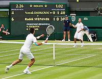 29-06-12, England, London, Tennis , Wimbledon, Novak Djokovic and Radek Stepanek