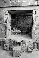 Doorway in the Codz Poop temple at the Mayan ruins of Kabah, Yucatan, Mexico.