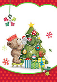 Sharon, CHRISTMAS ANIMALS, WEIHNACHTEN TIERE, NAVIDAD ANIMALES, GBSS, paintings+++++,GBSSC50XCB1,#XA#