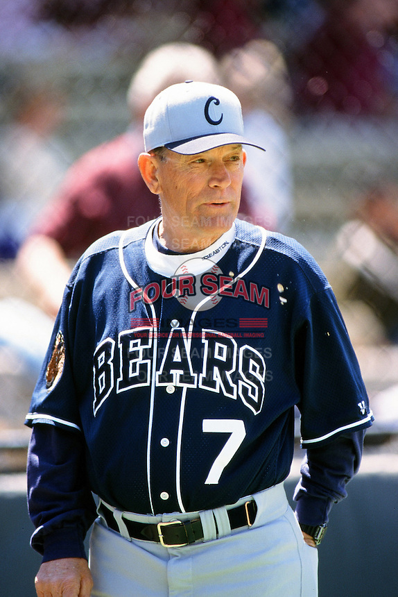 Cal Bears Head Coach Bob Milano during a NCAA baseball game against the USC Trojans at USC circa 1999 in Los Angeles, California. (Larry Goren/Four Seam Images)