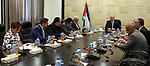 Palestinian Prime Minister, Rami hamdallah, chairs Meeting of the Crisis Plan and Challenges Committee, in the West Bank city of Ramallah on August 16, 2017. Photo by Prime Minister Office