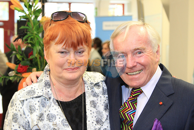 Phyl Connignham and Feargail Quinn at the opening of the time bank..Picture: Shane Maguire / www.newsfile.ie
