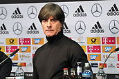 27th March 2018, Olympiastadion, Berlin, Germany; International Football Friendly, Germany versus Brazil; Coach Joachim Low (Germany)at the post game Press conference
