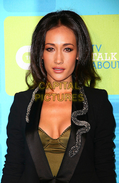 MAQQIE Q.AT the 2010 The CW Network UpFront at Madison Square Garden on May 20, 2010 in New York City,  New York, NY, USA, 20th May 2010..portrait headshot cleavage green bustier black jacket .CAP/ADM/PZ.©Paul Zimmerman/AdMedia/Capital Pictures.
