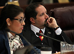 Nevada Assemblyman Andy Eisen, D-Las Vegas, works in committee at the Legislative Building in Carson City, Nev., on Monday, March 11, 2013..Photo by Cathleen Allison