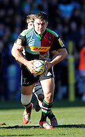 Nick Easter of Harlequins in action during the Aviva Premiership Rugby match between Harlequins and London Irish at The Twickenham Stoop on Saturday 7th March 2015 (Photo by Rob Munro)