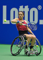 Rotterdam, Netherlands, December 20, 2015,  Topsport Centrum, Lotto NK Tennis, KNLTB, Wheelchait womans single final: Marjolijn Buis  (NED)<br /> Photo: Tennisimages/Henk Koster