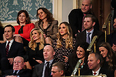 FEBRUARY 5, 2019 - WASHINGTON, DC: Jared Kushner, Ivanka Trump, Lara Trump, and Eric Trump during the State of the Union address at the Capitol in Washington, DC on February 5, 2019. <br /> Credit: Doug Mills / Pool, via CNP