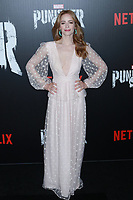 NEW YORK, NY - NOVEMBER 06: Jaime Ray Newman at  'Marvel's The Punisher' New York premiere at AMC Loews 34th Street 14 theater on November 6, 2017 in New York City. <br /> CAP/MPI99<br /> &copy;MPI99/Capital Pictures