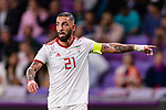 Seyed Ashkan Dejagah of Iran gestures during the AFC Asian Cup UAE 2019 Semi Finals match between I.R. Iran (IRN) and Japan (JPN) at Hazza Bin Zayed Stadium  on 28 January 2019 in Al Alin, United Arab Emirates. Photo by Marcio Rodrigo Machado / Power Sport Images