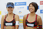 (L to R) Keiko Urata, Miwa Asao, MAY 6, 2012 - Beach Volleyball : JBV Tour 2012 Sports Club NAS Open  Women's third place mach at Odaiba Beach, Tokyo, Japan. (Photo by Yusuke Nakanishi/AFLO SPORT) [1090]