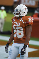 09 September 2006: Texas defender Brandon Foster pauses between warmups prior to the Longhorns 24-7 loss to the Ohio State Buckeyes at Darrell K Royal Memorial Stadium in Austin, TX.