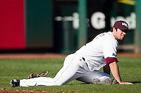 Brent Seifert (4) of the Missouri State Bears stretches prior to a game against the Southern Illinois University- Edwardsville Cougars at Hammons Field on March 10, 2012 in Springfield, Missouri. (David Welker / Four Seam Images)