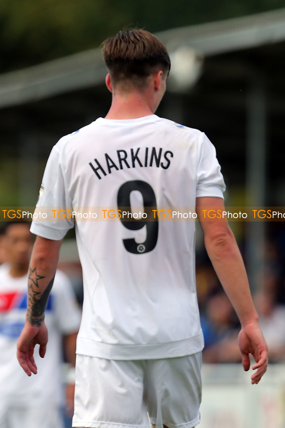 someone can't spell Oliver Hawkins of Dagenham on his shirt during Eastleigh vs Dagenham & Redbridge, Vanarama National League Football at the Silverlake Stadium on 12th August 2017