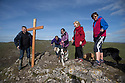 25/03/16 <br /> <br /> ***STRICTLY NO SYNDICATION***<br /> <br /> Mark Lewis leads the Good Friday Walk of Witness, carrying a 7ft cross to the summit of Thorpe Cloud, some 942 ft above Dovedale, a popular beauty spot in the Derbyshire Peak District near Ashbourne.<br /> <br /> <br /> All Rights Reserved: F Stop Press Ltd. +44(0)1335 418365   +44 (0)7765 242650 www.fstoppress.com