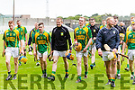 Kilmoyley and Ballyduff players after a draw in the County Senior Hurling Final at Austin Stack Park on Sunday.