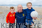 The Dennehy family from Lerrig Ardfert enjoying a stroll on Banna Beach on Sunday. <br /> L to r: Joe, Bill and Emma Dennehy